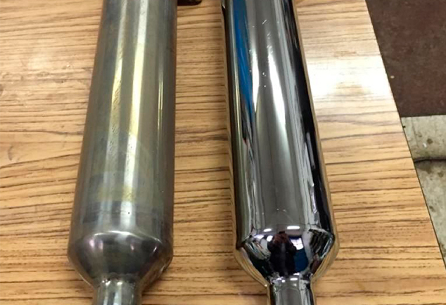 Cromado de tubos escape moto